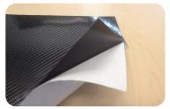 Carbon Fiber Laminate with Adhesive Backing