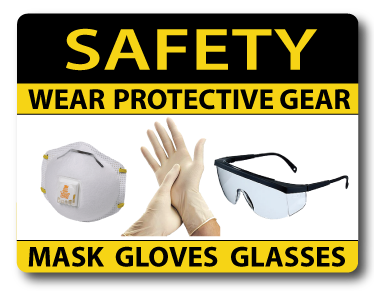 Wear your PPE when cutting rods and tubes